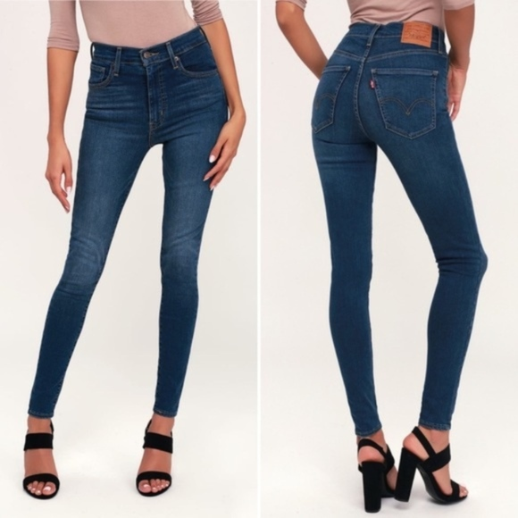 Free People Denim - Free People by Levi's Mile High Rise Super Skinny